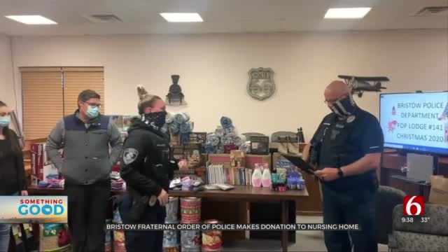 Bristow Fraternal Order Of Police Makes Holiday Donation To Nursing Home