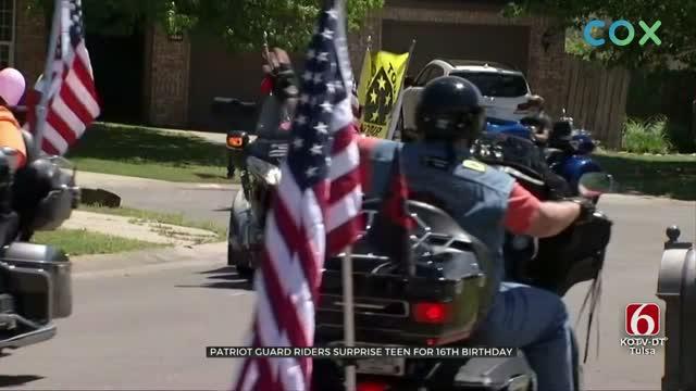 WATCH: Patriot Guard Riders Surprise Broken Arrow Teen For Birthday