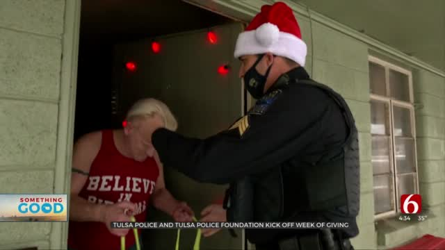 Watch: Tulsa Police Kick Off Week Of Giving With Surprise Special Christmas Deliveries