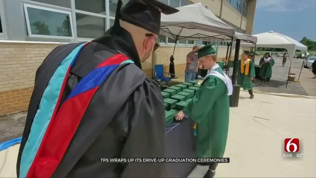 Tulsa Public Schools Wraps Up Drive-Up Graduations