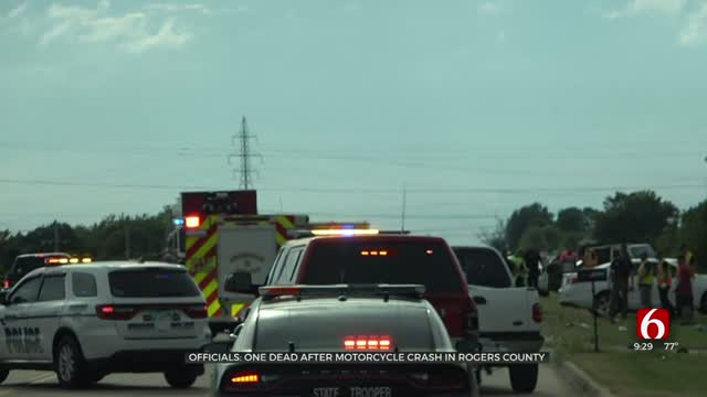 1 Dead After Motorcycle Crash On Highway 20 In Rogers County