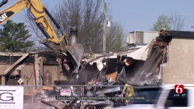 Tulsa's Crow Creek Tavern On Brookside Demolished