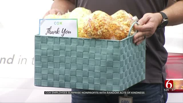 Cox Employees Surprise Nonprofits With Random Acts Of Kindness