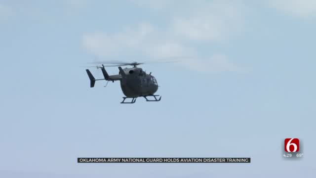 Oklahoma Army National Guard Practices Helicopter Crash Response