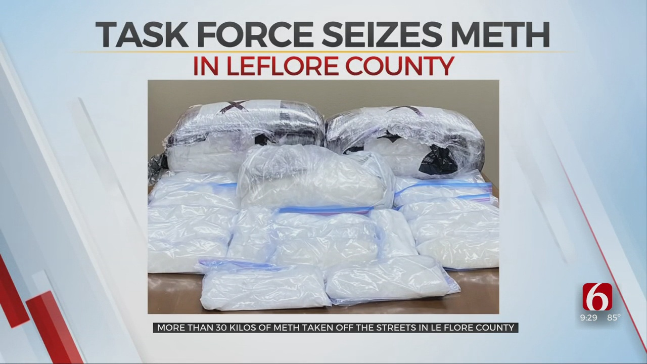 Task Force Seizes More Than 60 Pounds Of Meth In LeFlore County
