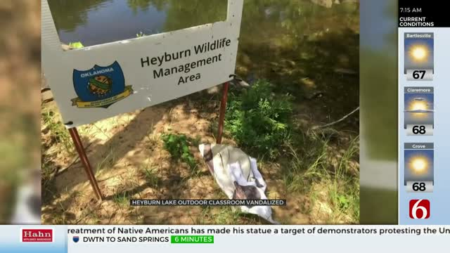 Heyburn Lake Outdoor Classroom Vandalized With Bullets and Trash