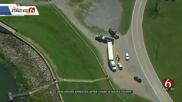 Semi-Truck Driver Arrested After Pursuit In Mayes County