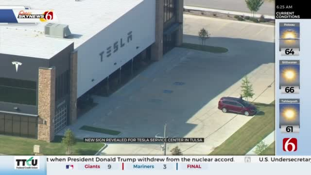 Sign Now Up At New Tesla Service Center In Tulsa