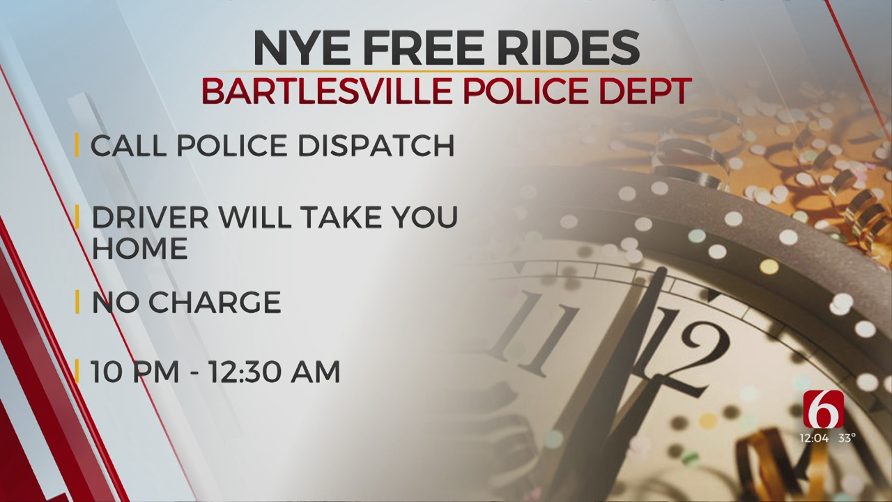 Bartlesville Police Offer Free Rides On New Year's Eve
