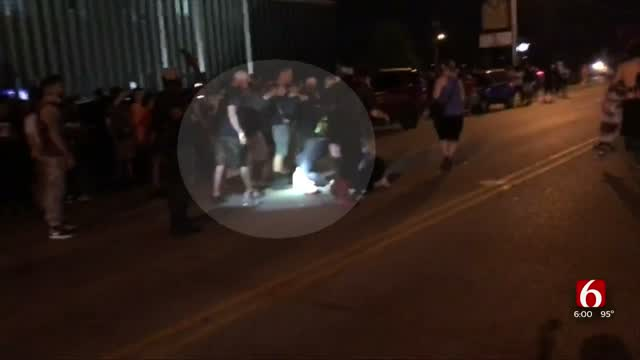 Tulsa Man Thankful After Stranger Carries Him To Safety During Protest