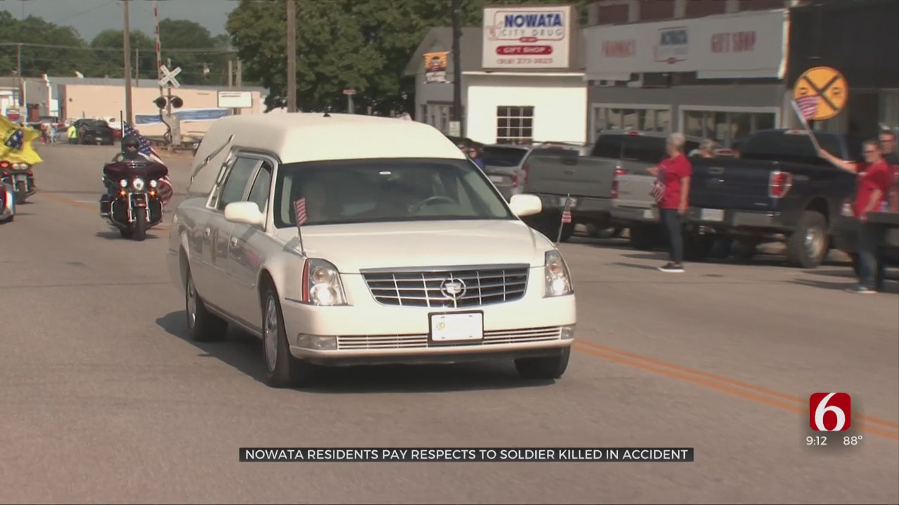 Nowata Residents Pay Respects To Soldier Killed In Accident