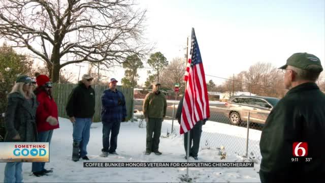 Coffee Bunker Honors Tulsa Veteran Battling Cancer