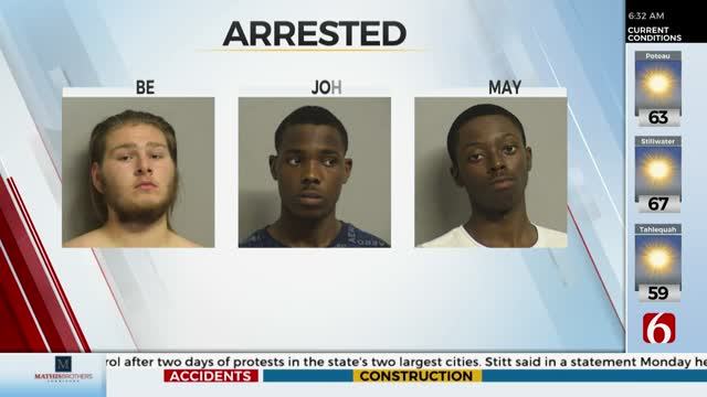 Watch: Multiple People Arrested Near 71st & Memorial Tuesday Night