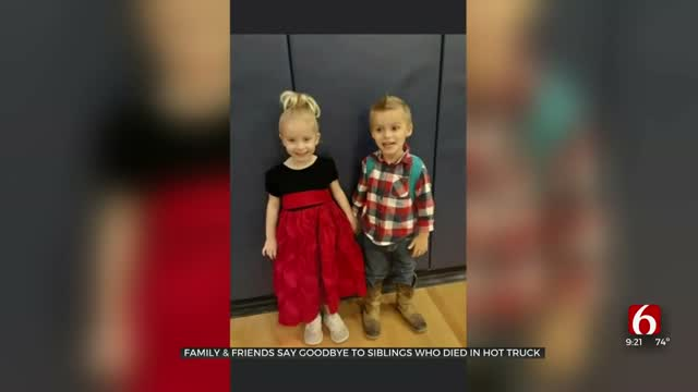 Family, Friends Say Goodbye To Oklahoma Siblings Who Died In Hot Car
