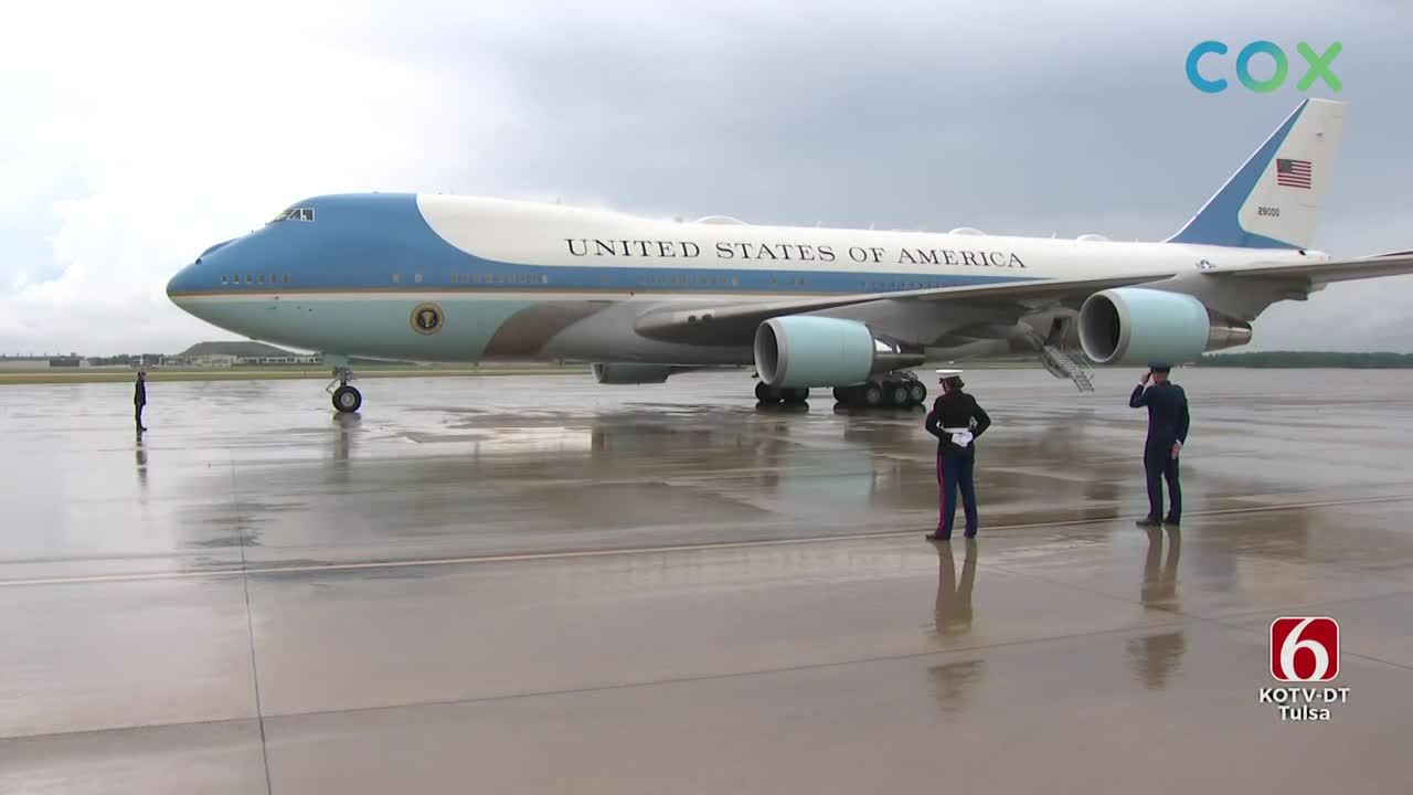 Watch: President Trump Arrives At Air Force One to Depart To Tulsa