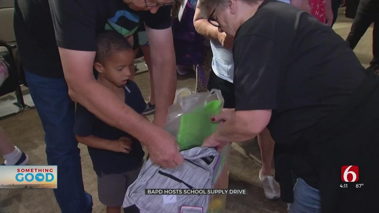 Broken Arrow Police Hosts School Supplies Drive
