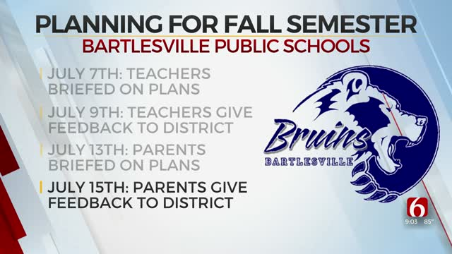Bartlesville Schools Work Out Opening Plan With Feedback From Teachers, Parents