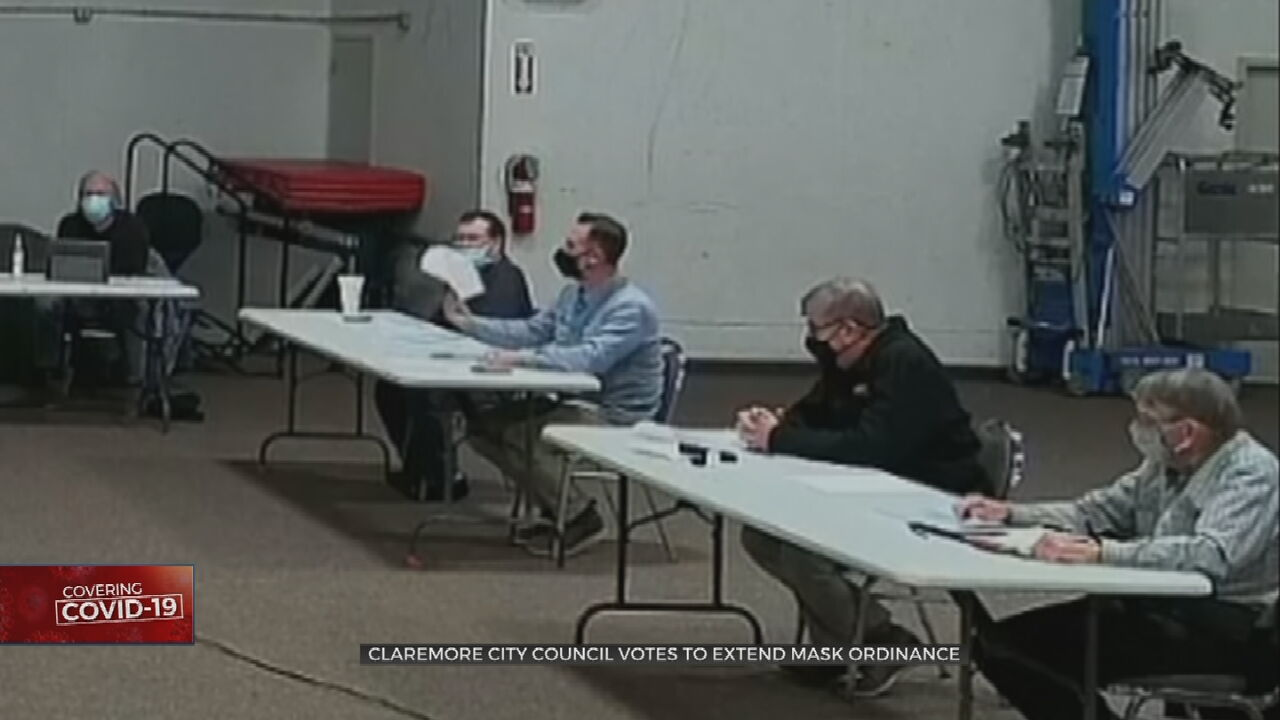 Claremore City Council Votes To Extend Mask Mandate