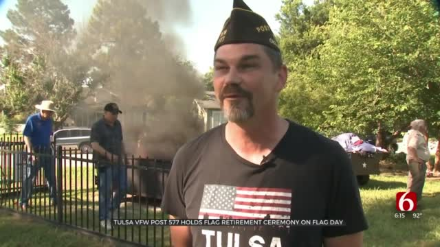 Tulsa VFW Post 577 Honors Flag Day With Flag Retirement Ceremony
