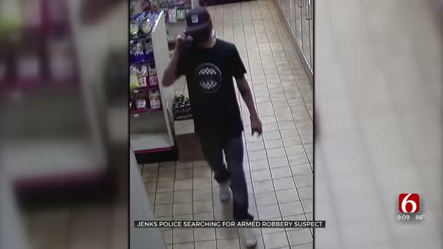 Jenks Police Searching For Armed Robbery Suspect