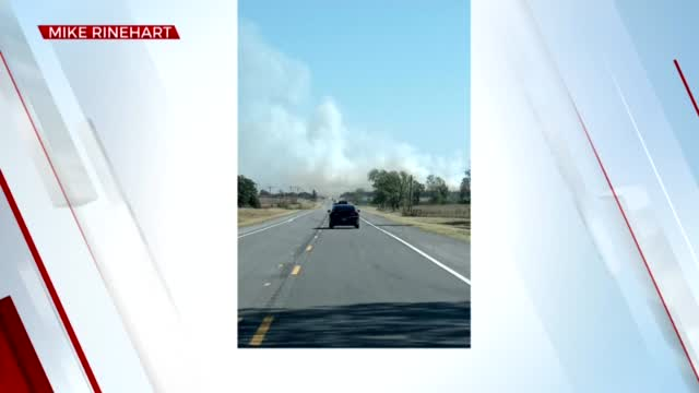 Highway 33 Near Drumright Reopened After Grass Fire