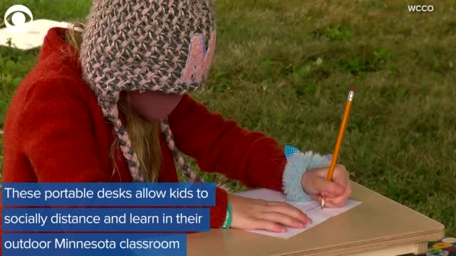 Watch: Teacher And Parent Come Up With Innovative To Help Students Learn While Physical Distancing