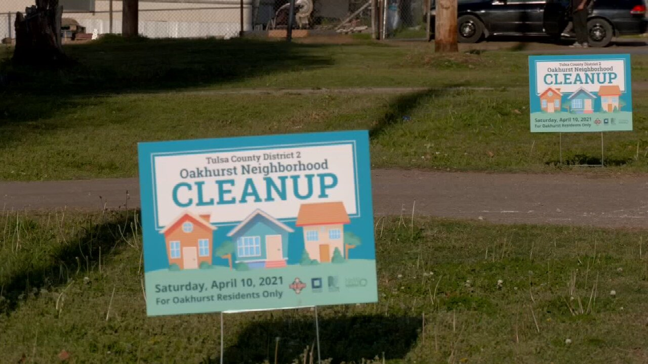 Tulsa County Holding Cleanup Event In Oakhurst Neighborhood