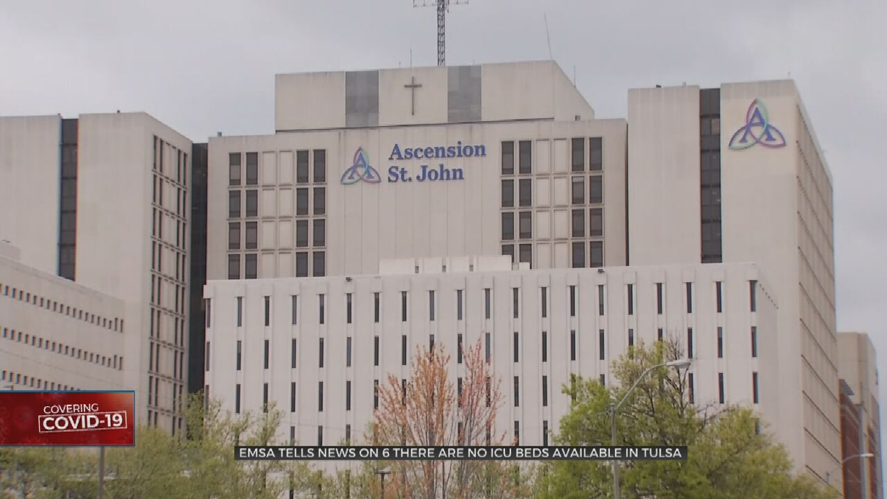 EMSA Says No ICU Beds Available In Tulsa Hospitals