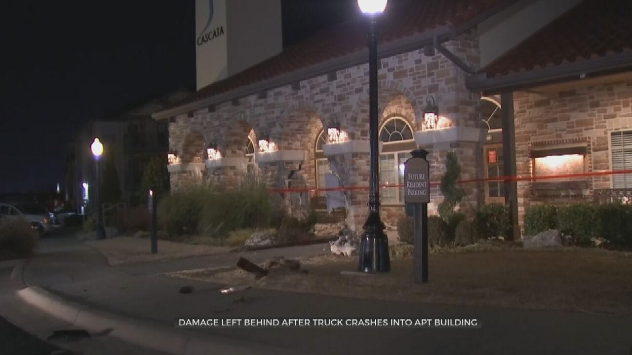 Man Crashes Truck Into Tulsa Apartment Complex