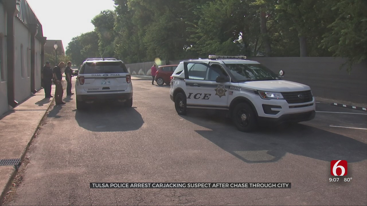 Suspect In Custody After Stealing Woman's Car, Leading Officers On Chase