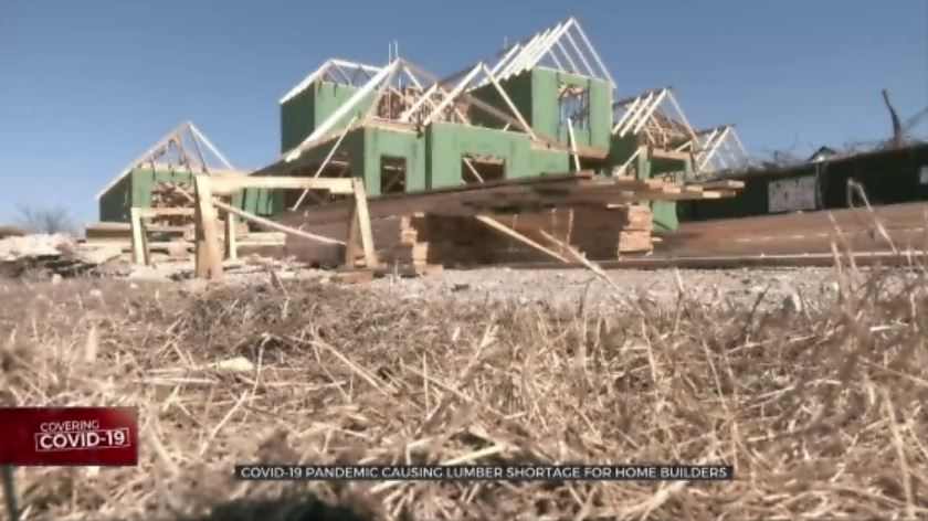 COVID-19 Pandemic Causing Lumber Shortage For Home Builders