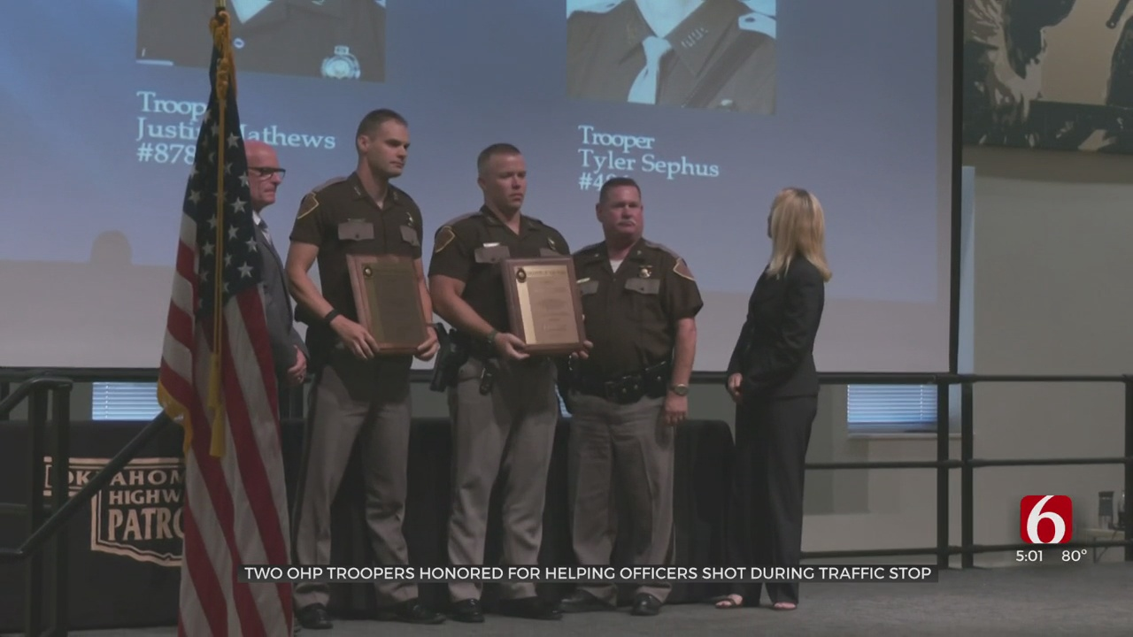 Highway Troopers Honored For Their Response To Deadly 2020 Shooting Of Tulsa Officers