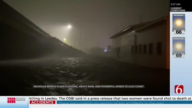 Nicholas Brings Flash Flooding, Heavy Rains & Powerful Winds To Gulf Coast