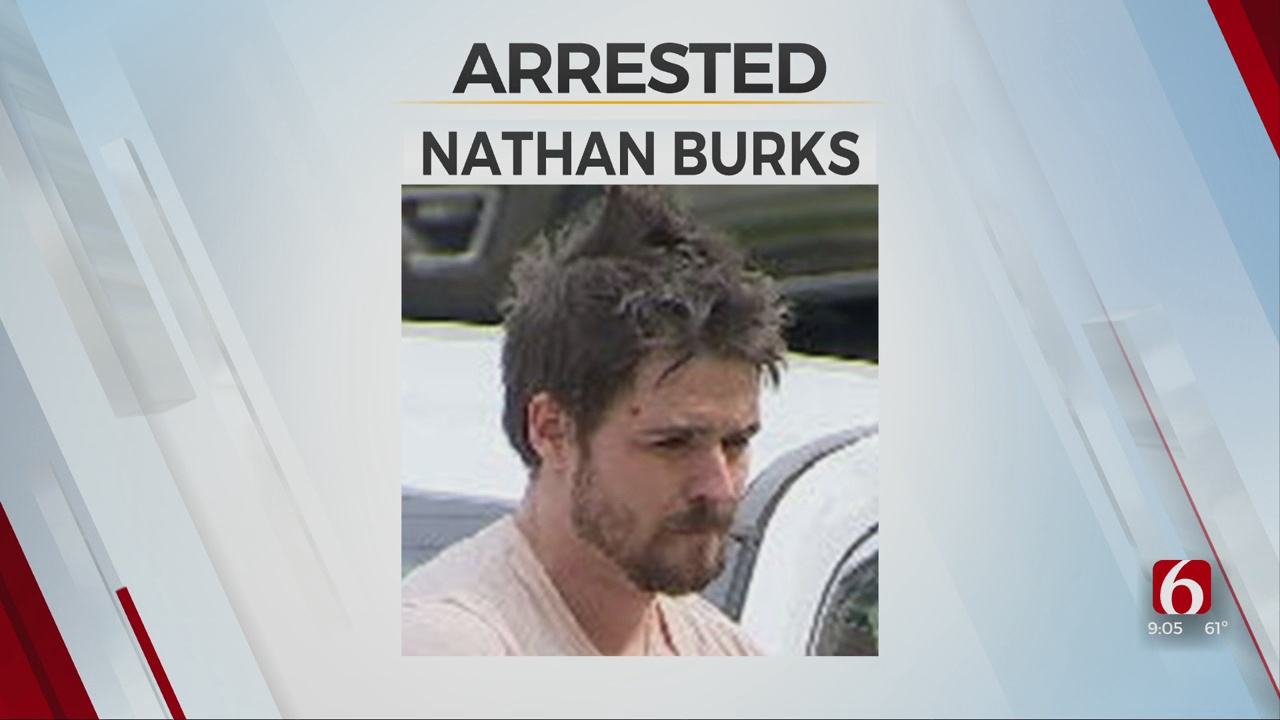 Police Arrest Suspect After Chase In Downtown Tulsa Ends On News On 6 Lawn