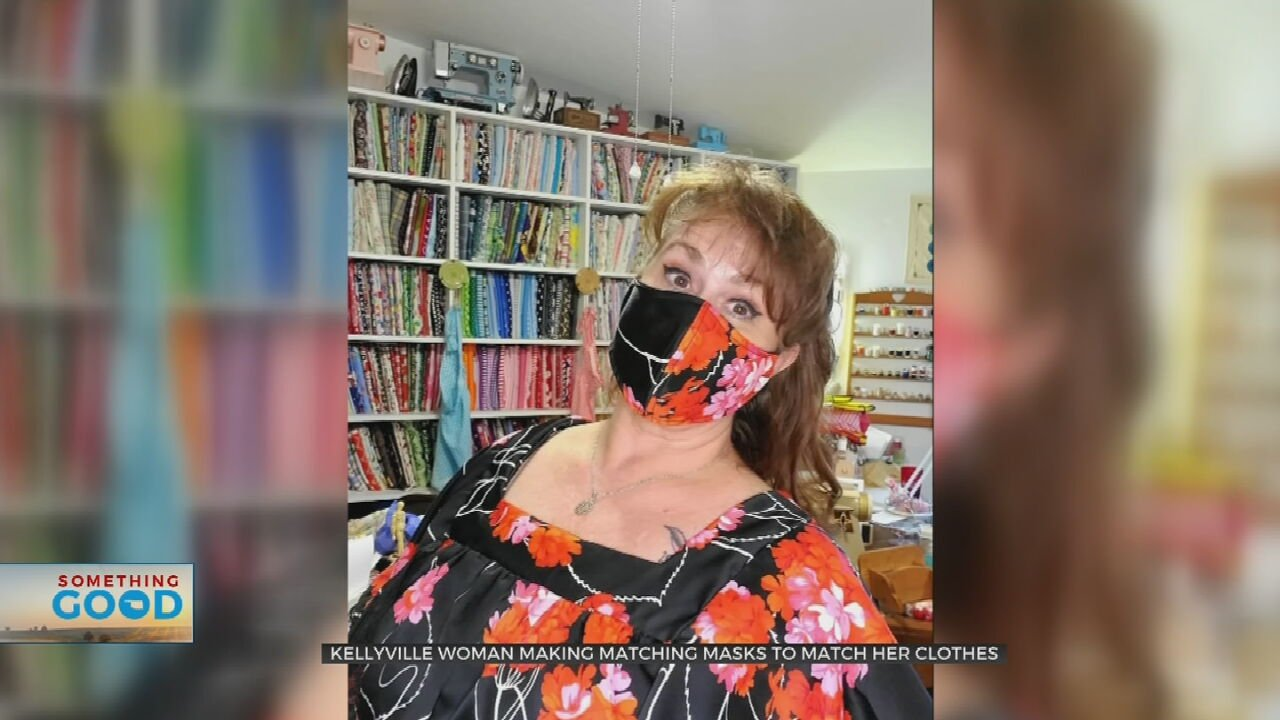 Oklahoman Makes Mask Wearing A Fashion Statement While Helping Others