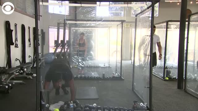 California Gym Finds Creative Way To Workout While Following Physical Distancing Guidelines