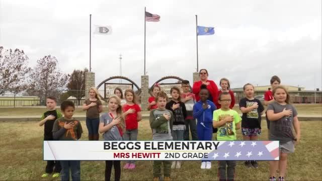Daily Pledge: Mrs. Hewitt's 2nd Grade Class