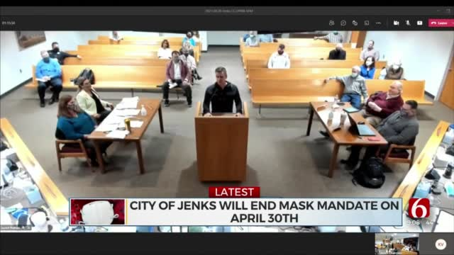 Jenks City Council Votes In Favor Of Mask Mandate Removal
