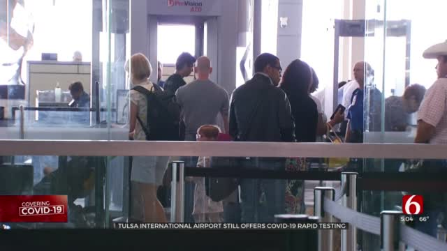 As Travel Takes Off Again, Tulsa International Airport Continues COVID-19 Testing