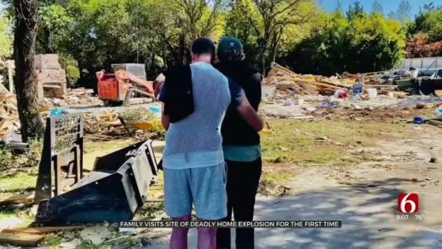 Oklahoma Family Visits Site Of Deadly Home Explosion For First Time