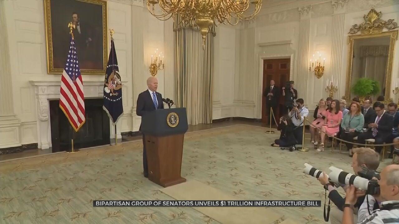 Senators Unveil Full Text Of Bipartisan Infrastructure Bill