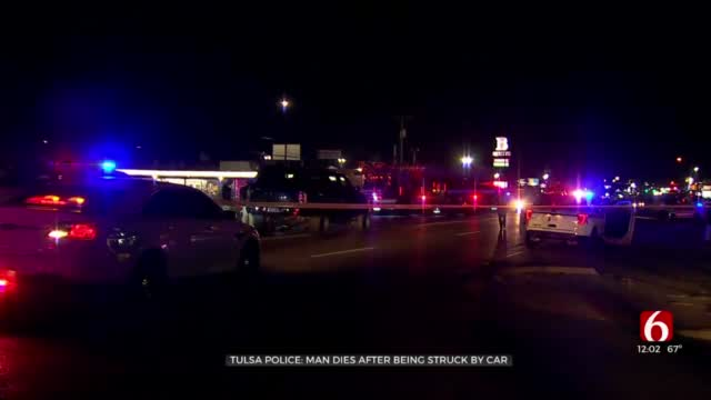 Tulsa Police: Man Killed After Being Struck By Car