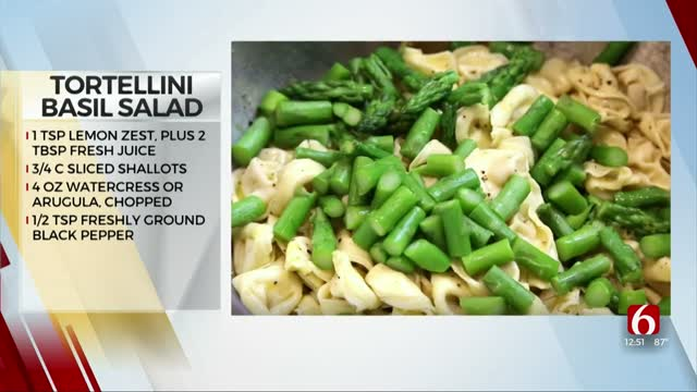 Tortellini Basil Salad