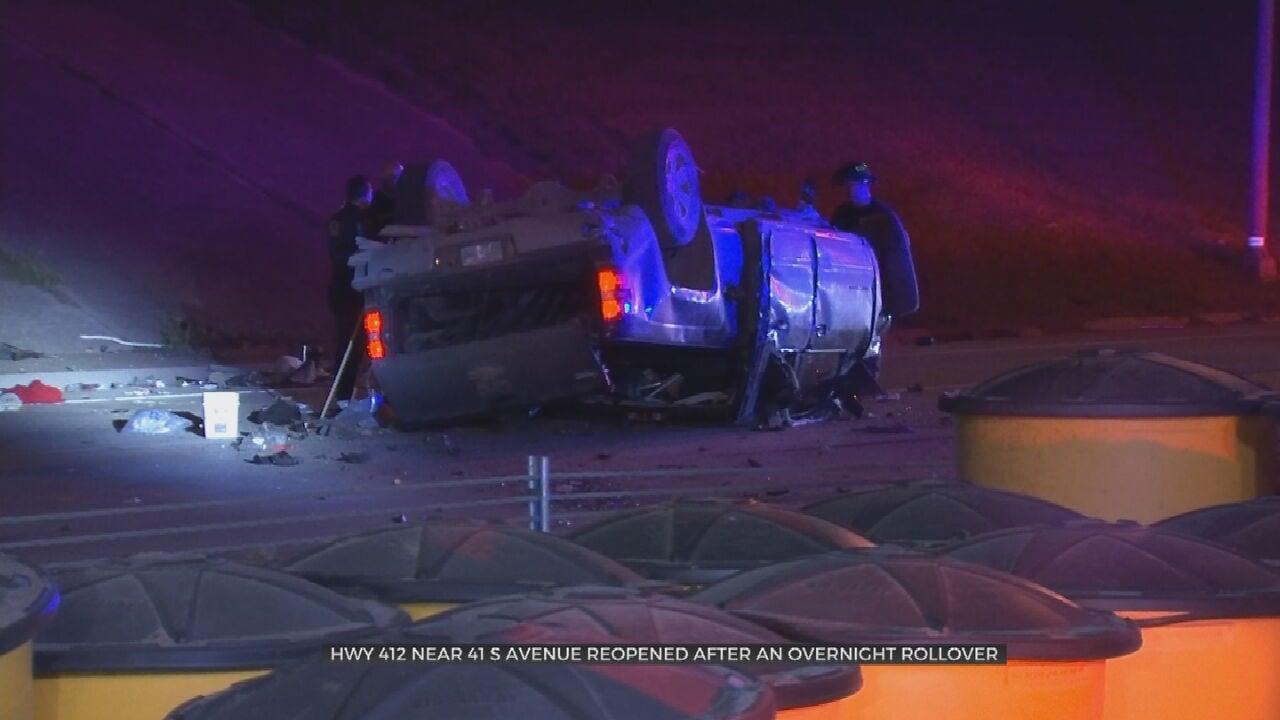 2 Hospitalized After Rollover Crash On Highway 412