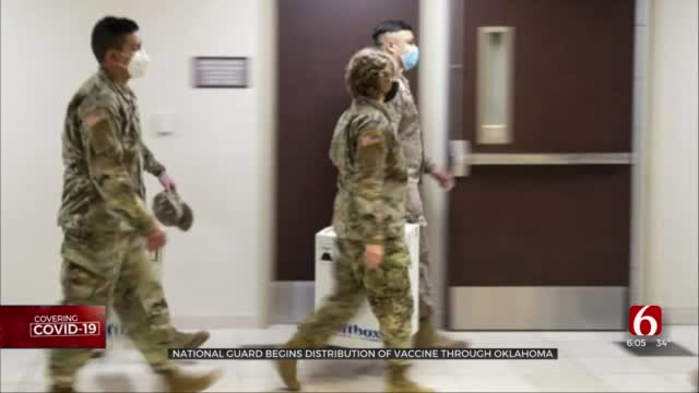 Oklahoma National Guardsmen 'Overwhelmed With Excitement' To Aid Vaccine Delivery