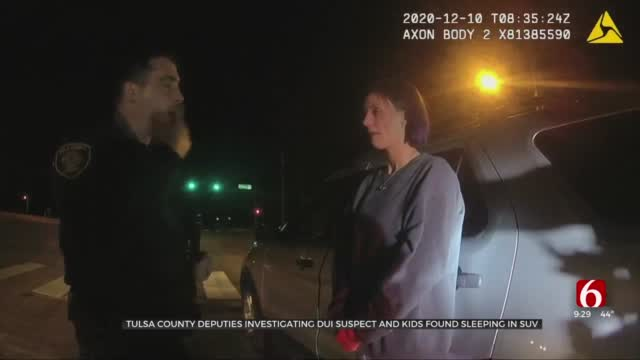 Tulsa Co. Deputies Release Body Cam Footage Of DUI Suspect Found With Kids In Car
