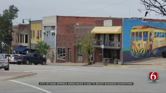 City Of Sand Springs Announcing Plan To Boost Downtown Business