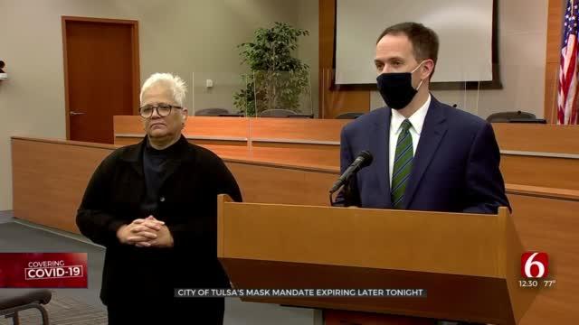 City Of Tulsa's Mask Mandate To Expire Friday
