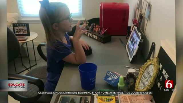 Glenpool Kindergartners Learning From Home After Positive COVID-19 Cases