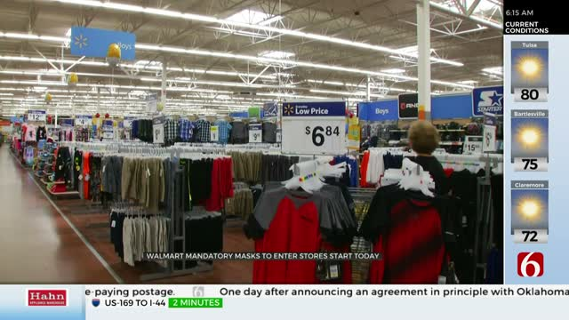 Walmart To Require Customers To Wear Masks